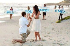 This is really sweet!! ~love a creative proposal