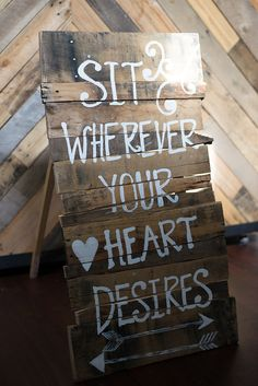 Custom Wooden Rustic Wedding Seating Sign by GandyShop on Etsy, $55.00