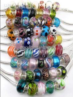 Glass/resin European beads