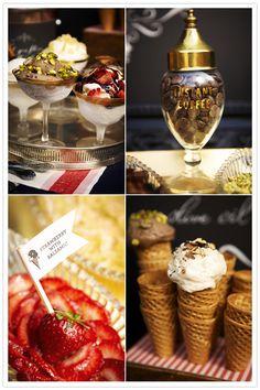 fancy ice cream bar