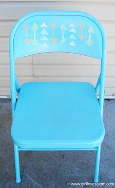 Chalkboard backed folding chair