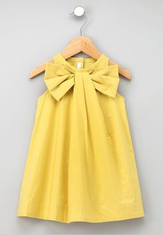 Big Bow Easter Dress #yellow