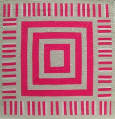 "Beautiful, bright, and simple ""Improv Wall Quilt"" by Karen Griska."