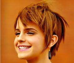short hair. If only I had Emma Watson's face... I could totally pull this off.