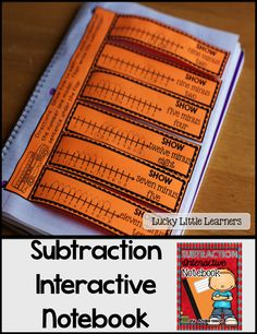 This 40-page Subtraction Interactive Notebook is filled with 12 different subtraction activities that vary from subtraction strategies, key words, story problems, part part whole flip flaps, number line subtraction, and so much more!