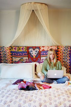 Amber Interior Design: Boho glam bedroom..