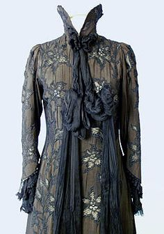 1898, Black Art Nouveau Coat