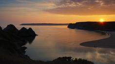 A fantastic photo of Three Cliffs Bay in Gower by my husband