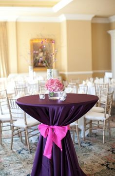 How about accent table covers, so we don't have to rent lots of dinner decor?!