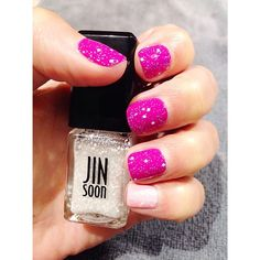 """LVX Orchid + Jin Soon Dolly Pink...and """"toppings"""" #manimonday"""