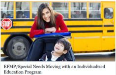 When transferring with an individualized education program, the new school is required to provide a free appropriate public education. This includes providing comparable services to those available through the current IEP. While the Individuals with Disabilities Education Act requires that the new school provide services, it does not require that the services at the new location be exactly the same as those provided by the previous school.  ~~ MilitaryAvenue.com