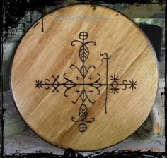 Hoodoo Magick Rootwork:  Papa Legba Vodou Voodoo Hoodoo Wood, by EvilLilyOriginals.