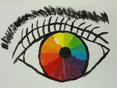 Splats, Scraps and Glue Blobs: Color Wheel Eyes