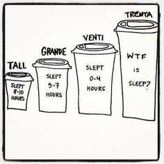 coffee size & sleep translation :)  Truth!