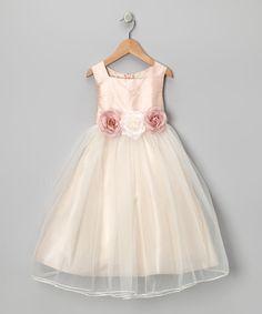 Dusty Rose Silk Dress//