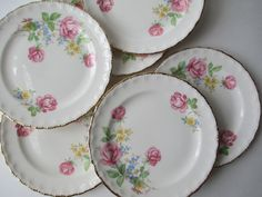 Vintage Pope Gosser Patty Pink Floral Bread & by thechinagirl, $22.50