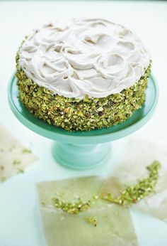 Pistachio Carrot Cake with Brown Sugar-Cream Cheese Frosting – by looks alone, this cake needs a spot on your Thanksgiving dining room table this fall. Plus everyone loves a good carrot cake for dessert. Bake this stunning new take on a classic recipe this fall! Pistachio Cake, Chees Frost, Carrot Cakes, Sugarcream Chees, Brown Sugarcream, Frosting Recipes, Cake Recipes, Pistachio Carrot, Birthday Cakes