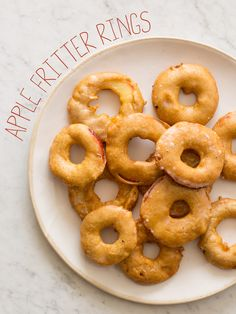 Apple Fritter Rings recipe.