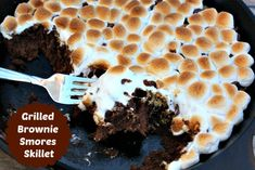Grilled Brownie Smores Skillet {Dessert on the Grill}