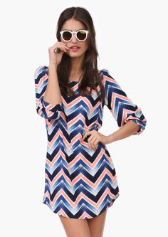 Ocean Chevron Dress