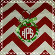 Apple with chevron back and monogram
