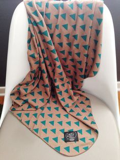 Triangles Swaddle Blanket Geometric Gender by busyspinningthread, $18.00