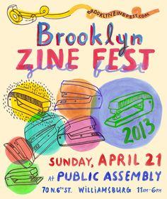 Brooklyn Zine Fest Flyer