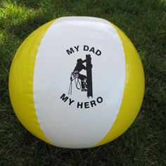 Beach ball balls, lineman stuff, lineman wife, husband stuff, beach ball, power lineman, lineman gift, lineman famili