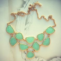 Delicate Princess Mint Necklace. I reeeeeealllly want to wear this please!