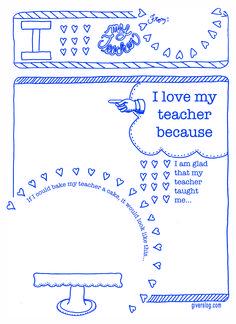 what a cute idea for Teacher valentine card