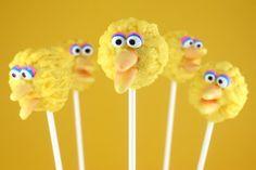 Big Bird Cake Pops by Bakerella, via Flickr. Too cute!