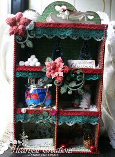 Heartfelt Creations   Wonderful Christmas Shadow Box