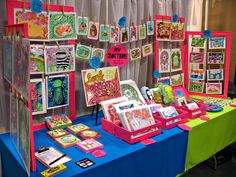 colorful paper art and stationery craft show booth at Renegade Austin 2011 by My Zoetrope, via Flickr
