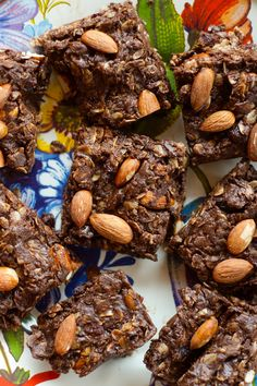 NO-Bake Chocolate Almond Cranberry Oat Bars ..I will try this deleting the butter.....