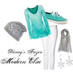 Disney's Frozen's Elsa (Modern) on Polyvore