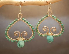 Luxe Bijoux 100 Hammered swirl earrings with by CalicoJunoJewelry, $106.00