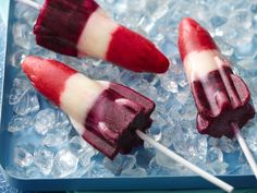 Red White and Blue / Homemade Bomb Pops for the 4th!