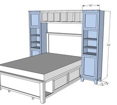 Ana White   Build a Hailey Towers for the Storage Bed System   Free and Easy DIY Project and Furniture Plans