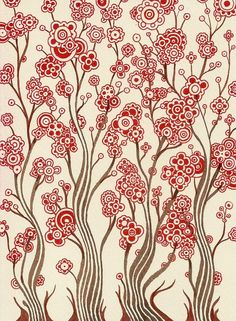 pattern wallpap idea, iphone wallpaper, color schemes, art, alkalin samurai, brush, design studios, flower patterns, full bloom