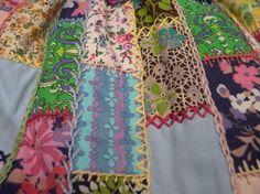 Making my patchwork bag.  by Karen