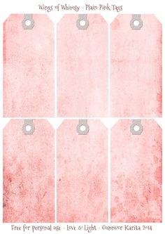 Wings of Whimsy: Plain Pink Tags #vintage #ephemera #printable #freebie #diy