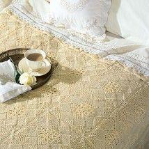 Beautiful Squares Bedspread Crochet Pattern - $4.99