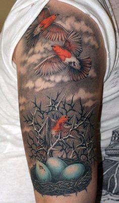 bird nest #arm #tattoos
