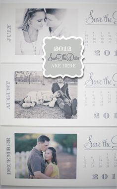 #Free Printable Download, #Free, DIY, Do It Yourself, Save the Date, 2012, Calendar Cards, calendar, card, photo, print, printable, templates, download