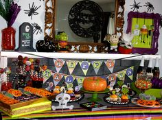 Halloween Dessert Table with tons of fun details!  #halloween #desserttable