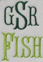 FREE!!!! Fish Tail Embroidery Font | Apex Embroidery Designs, Monogram Fonts & Alphabets