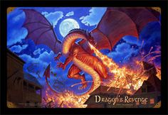 Dragon's Revenge - Vintage Tin Sign   Signed by Greg Hildebrandt!