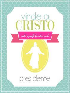 """As Tontas Vão Ao Céu: Capa para Pastas da Presidência das Moças - """"Vinde a Cristo"""" (Mutual 2014)"""