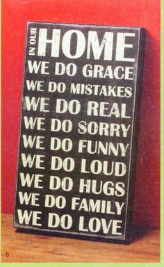 Saying applies for our home