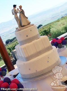 crystal band, wedding cakes